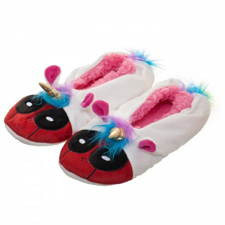 Deadpool Unicorn Mashup Slipper Socks
