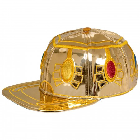 Infinity Gauntlet Faux Leather Suit-up Snapback