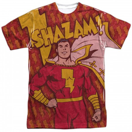 Shazam Bolts Front and Back Print Men's T-Shirt