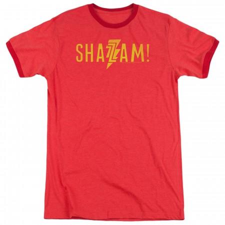 Shazam Movie Logo Ringer Men's T-Shirt