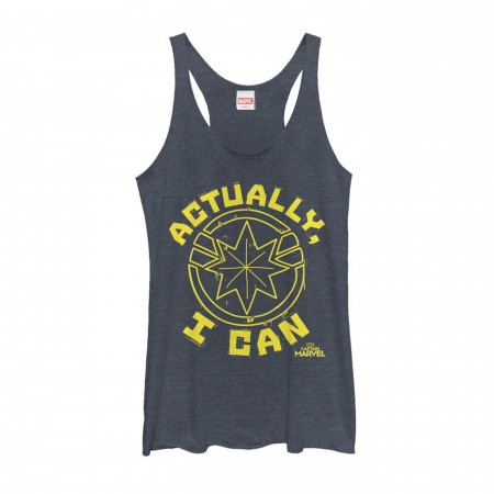 Captain Marvel Actually I Can Women's Tank Top