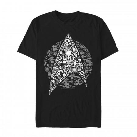 Star Trek Starfleet Icon Collage Men's T-Shirt