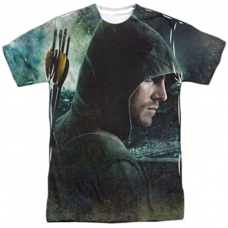 Arrow Hero Stare Men's Front Sublimated T-Shirt