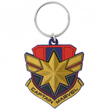 Captain Marvel Movie Badge Keychain