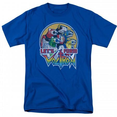 Voltron Let's Form Blue Men's T-Shirt