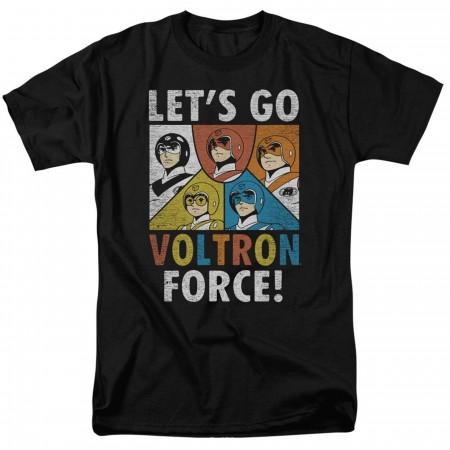 Voltron Let's Go! Black Men's T-Shirt