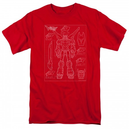 Voltron Schematic Red Men's T-Shirt