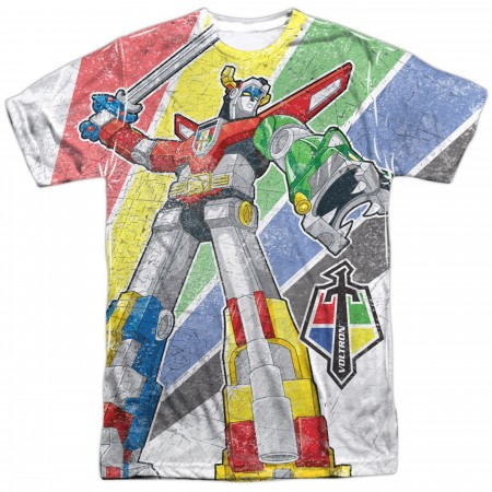 Voltron Mighty Robot Sublimated Front Men's T-Shirt