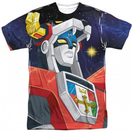 Voltron In Space Sublimated Front and Back T-Shirt