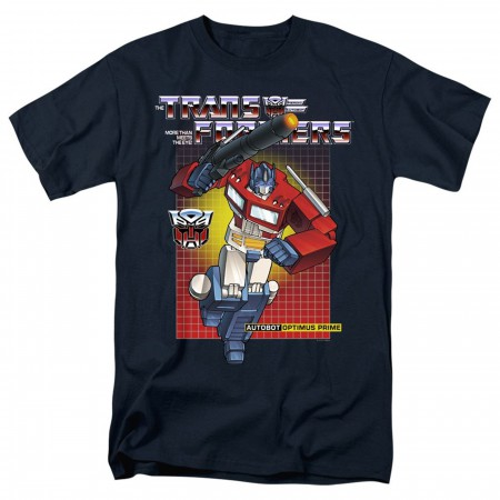 Transformers Optimus Prime Navy Blue Men's T-Shirt
