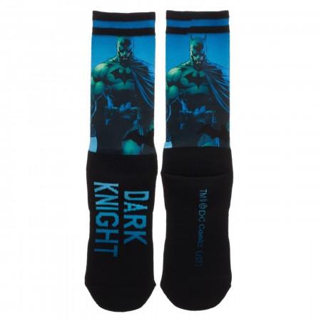 DC Comics Batman Sublimated Over Knit Crew Socks