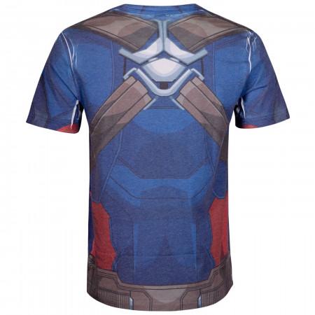 Captain America Costume Sublimated Men's T-Shirt