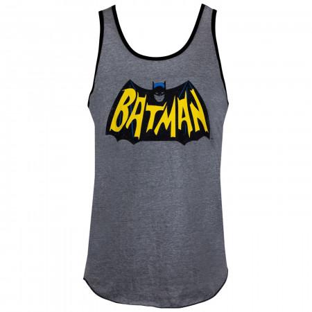 Batman Classic Symbol Ringer Tank Top