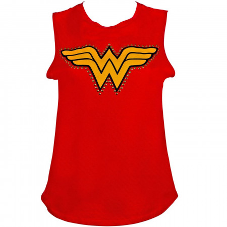 Wonder Woman Studs Sleeveless Tank