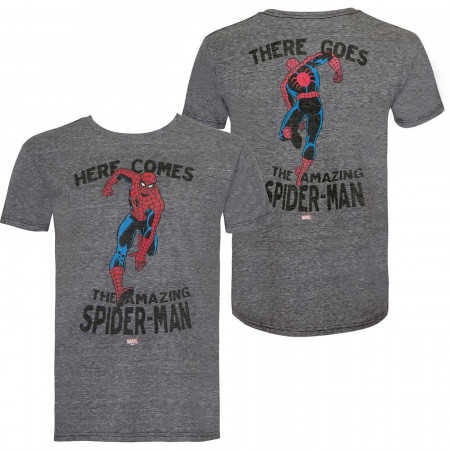 Spider-man Hi & Bye Front and Back Print Retro Brand Vintage Tee