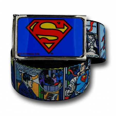 Superman Comic Image Belt