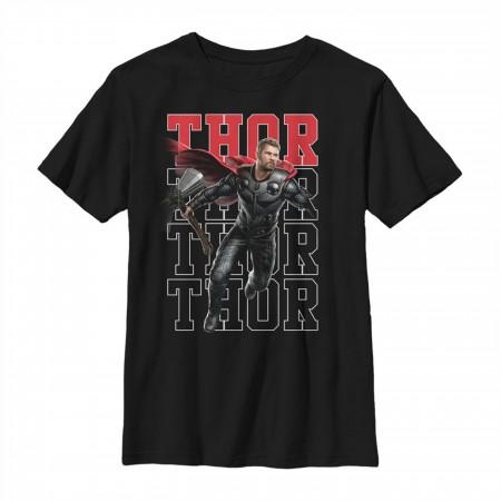 Avengers Endgame Thor Heroic Shot Youth T-Shirt