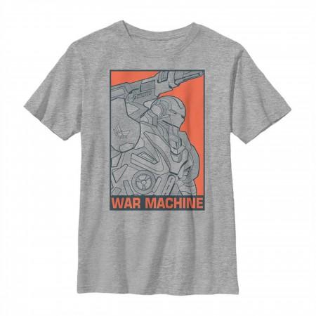 Avengers Endgame War Machine Color Pop Youth T-Shirt