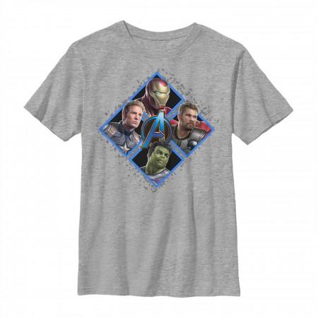 Avengers Endgame Square Box Group Shot Youth T-Shirt