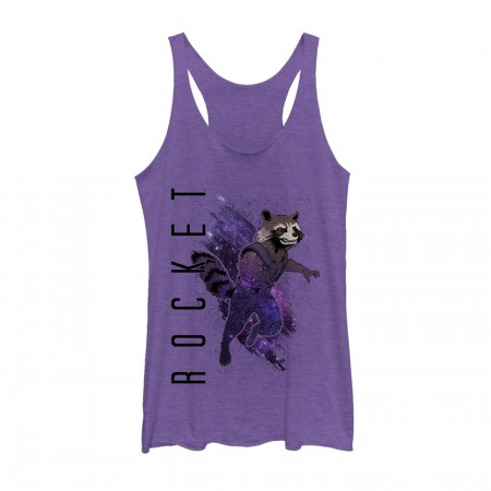 Avengers Endgame Rocket Raccoon Painted Women's Tank Top