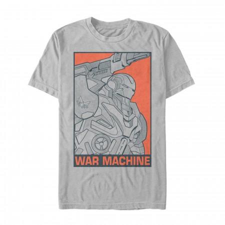 Avengers Endgame War Machine Color Pop Men's T-Shirt