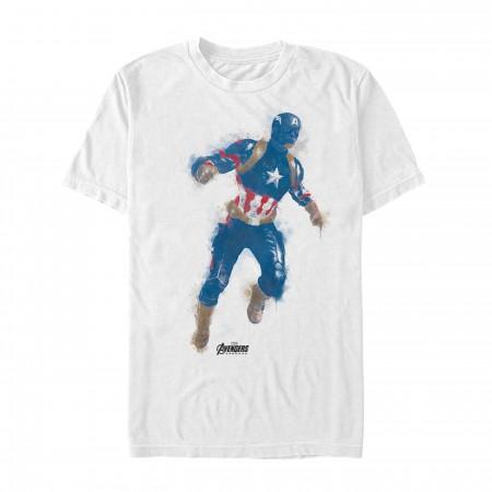 Avenger Endgame Captain America Painted Men's T-Shirt