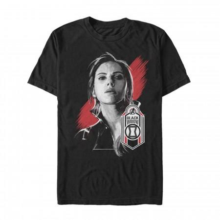 Avengers Endgame Black Widow Hero Badge Men's T-Shirt