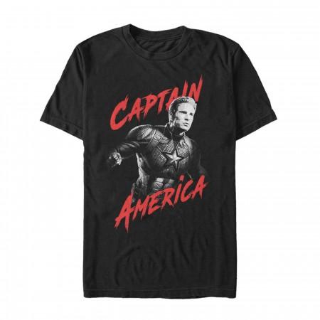 Avengers Endgame Captain America Heroic Shot Men's T-Shirt