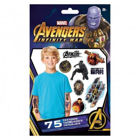Avengers Infinity War Standard Tattoo Bag - 75 Count