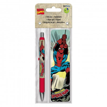 Spider-Man Gel Pen & Bookmark Pack