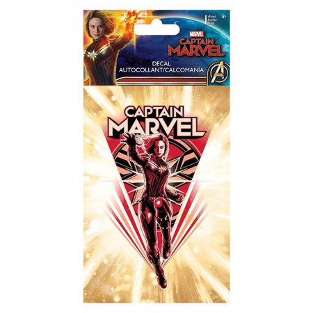 Captain Marvel 4-Color Decal - 4 x 8