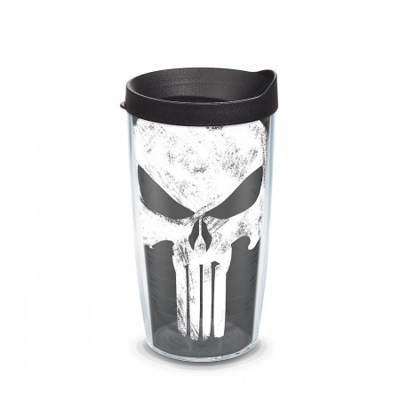Punisher Wrap With Travel Lid 16 oz Tervis Tumbler