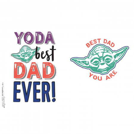 Star Wars Yoda Best Dad Wrap 16 oz Tervis® Tumbler With Travel Lid