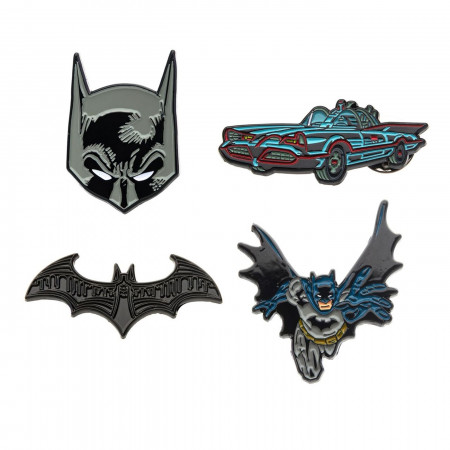 Batman Enamel 4-Piece Pin Set