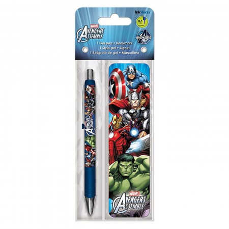 Avengers Assemble Gel Pen & Bookmark Pack