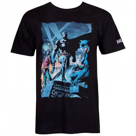 Batman Hush Comic Rooftop Meeting Image Men's T-Shirt
