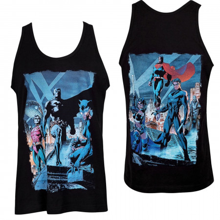 Batman Hush Comic Rooftop Meeting Image Tank Top