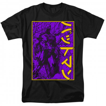 Batman 80th Big Framed Kanji Men's T-Shirt