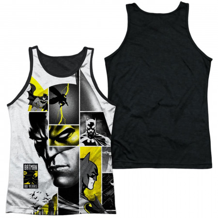 Batman 80th Panels Sublimated Front and Back Print Men's Tank Top