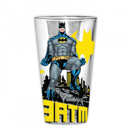 Batman Stance Logos 16oz Pint Glass
