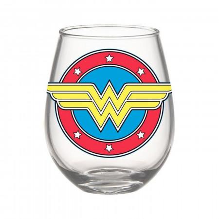 Wonder Woman Symbol 20oz Stemless Glass