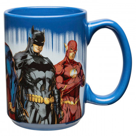 Batman, Superman, Flash, Wonder Woman & Green Lantern DC Comics Large 15 oz Coffee Mug