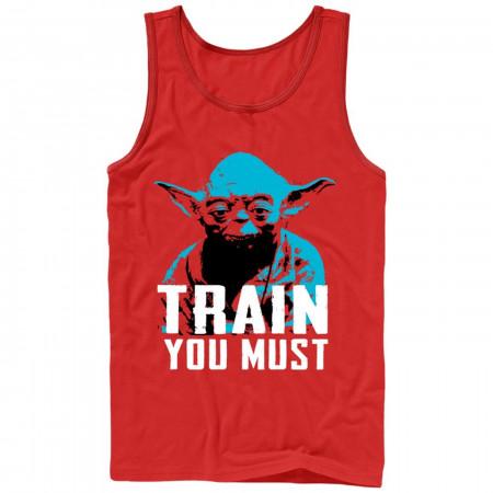 Yoda Train You Must Red Men's Tank Top