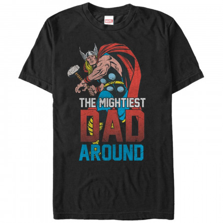 Thor Mightiest Dad From Marvel Men's T-Shirt