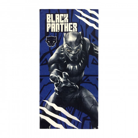 Black Panther Attack Beach Towel