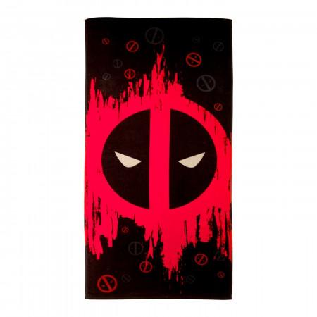 Deadpool Symbol Beach Towel