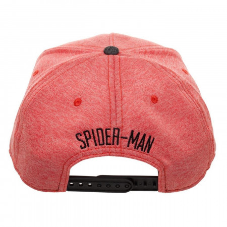 Spider-Man Two Tone Cationic Red and Black Snapback