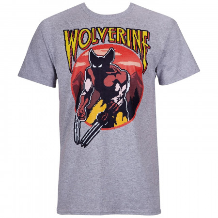 Wolverine Character Arcade Style Men's T-Shirt