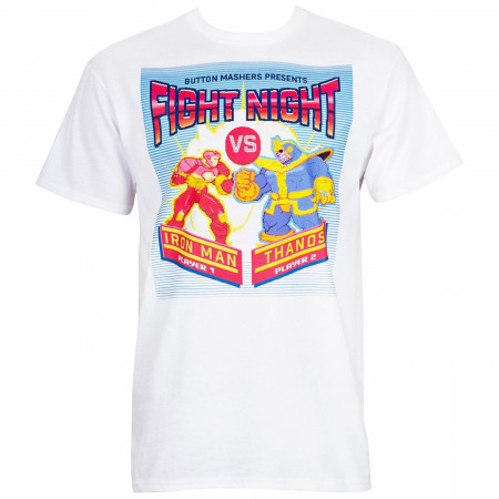 Fight Night Iron Man Vs. Thanos Arcade Style Men's T-Shirt
