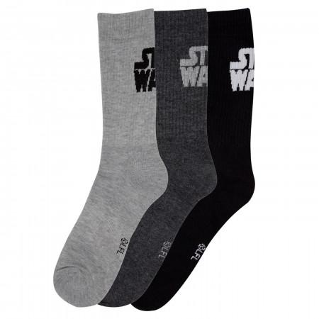 Star Wars Text 3-Pack Socks